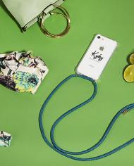 phone cord aqua